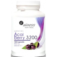 Aliness Acai Berry 3200 +Acerola+Chrom 800mg 100kaps - suplement diety