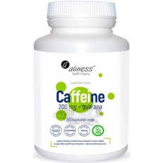 Aliness Anvition, Caffeine 200mg z guaraną 100kaps - suplement diety