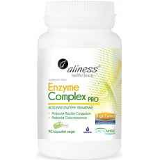 Aliness Enzyme Complex PRO 90kaps vege Enzymy Trawienne - suplement diety