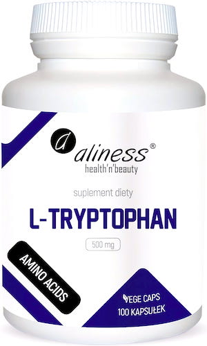 Aliness L-Tryptophan Tryptofan 500mg 100kaps vege - suplement diety
