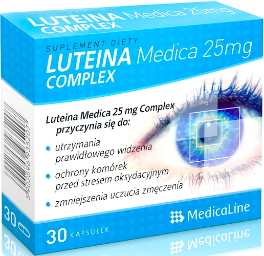 Aliness Luteina Medica 25mg Complex Witaminy+Zeaksantyna 30kaps - suplement diety
