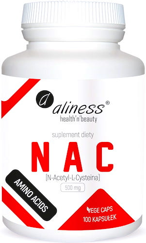 Aliness NAC N-Acetyl L-Cysteina 500mg 100kaps vege - suplement diety
