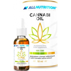 Allnutrition Cannabi Oil Olejek CBD 15% 10ml - suplement diety