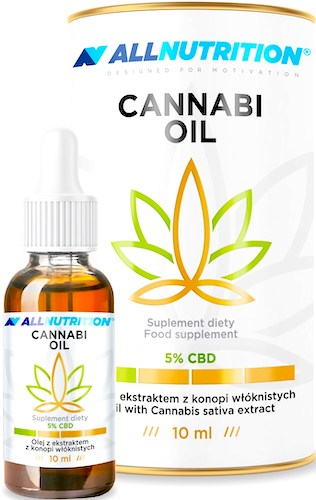 Allnutrition Cannabi Oil Olejek CBD 5% 10ml - suplement diety