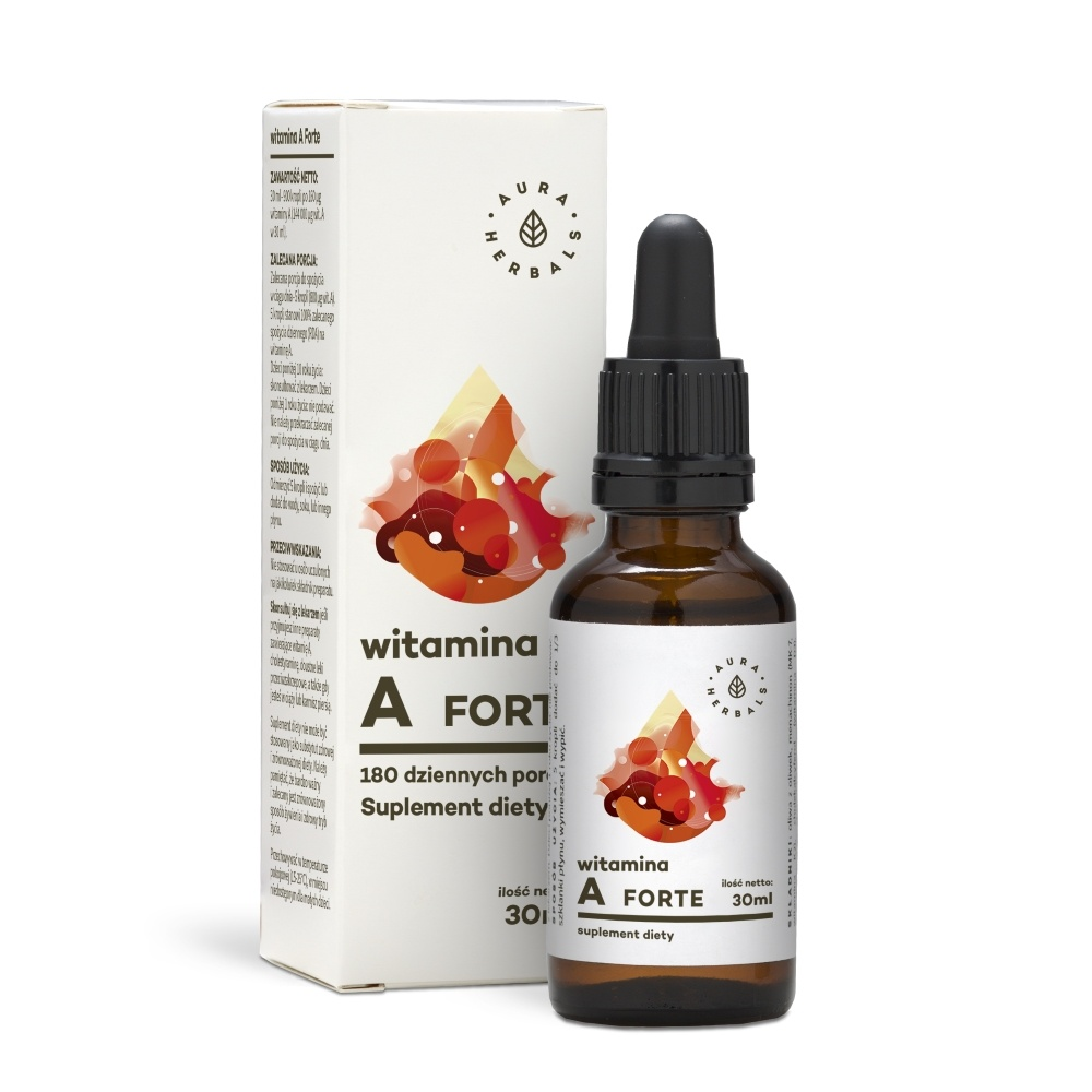 Aura Herbals Witamina A Forte 30ml - suplement diety PROMOCJA