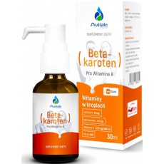 Avitale Beta-karoten ProWitamina A w kroplach 4,5mg 30ml - suplement diety