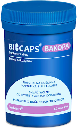 ForMeds BICAPS Bakopa 60mg 60kaps vege Bacopa Monniera - suplement diety