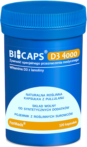 ForMeds BICAPS D3 Witamina D-3 4000IU 120kaps - suplement diety