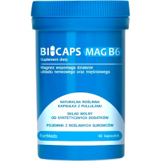 ForMeds BICAPS MAG B6 60kaps Magnez Cytrynian + Witamina B6 Pirydoksyna - suplement diety