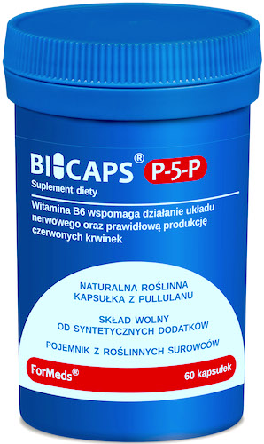 ForMeds BICAPS P-5-P B6 Witamina B-6 25mg 60kaps - suplement diety PROMOCJA !