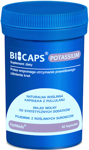 ForMeds BICAPS POTASSIUM Cytrynian Potas 360mg 60kaps - suplement diety