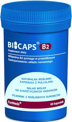 ForMeds BICAPS Witamina B-2 60kaps vege Ryboflawina - suplement diety