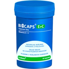 ForMeds BICAPS E+C Witamina E (Tokoferol) + Witamina C 60kaps vege - suplement diety