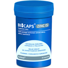 ForMeds BICAPS ZINC 15mg 60kaps Cytrynian Cynku + Miedź - suplement diety