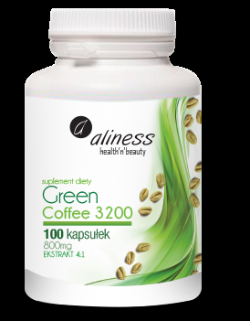 Aliness Green Coffee 3200 aliness 100kaps - suplement diety