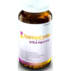 Hauster Homocyne 120kaps Homocysteina+B6+B3+B2+B12+Biotyna- suplement diety