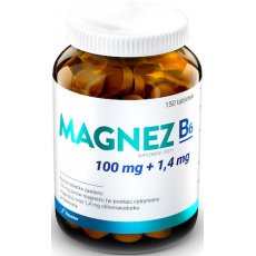 Hauster Magnez 100mg B6 1,6mg 150tabs - suplement diety