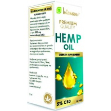 Intenson Hemp Olejek Konopny 5% CBD 250mg 5ml - suplement diety