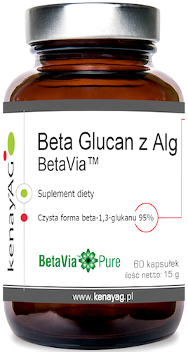 Kenay Beta glucan z alg 250mg 60kaps - suplement diety