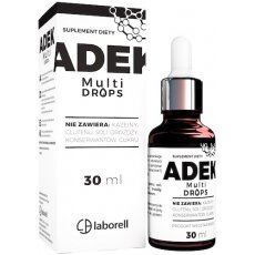 Laborell Witamina ADEK Multi Drops 30ml krople vege - suplement diety Kompleks Witamin A+D3+E+K2 mk7