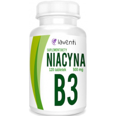 Laventi NIACYNA B3 500mg 120tabs - suplement diety