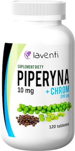 Laventi Piperyna 10mg + Chrom 200mcg 120tabs - suplement diety