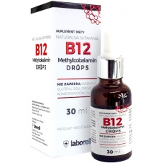 Laborell Witamina B12 FORTE Drops Methylocobalamin 30ml B-12 krople Metylokobalamina - suplement diety