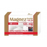 Magnez 125mg + witamina B6 Forte 50tab - suplement diety