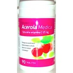 Medica Acerola naturalna witamina C 125mg 90tabs - suplement diety