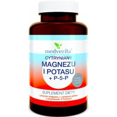 Medverita Cytryniany: Magnez i Potas + Witamina B-6 P-5-P 100kaps - suplement diety