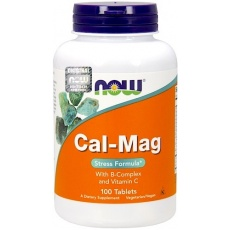 NOW FOODS Cal-Mag Stress Formula 100kaps vege - suplement diety