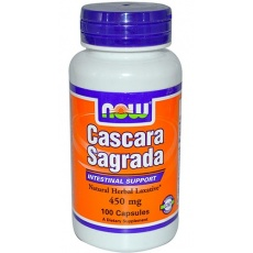 NOW FOODS Cascara Sagrada 450mg 100 kaps. - suplement diety