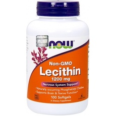 NOW FOODS Lecytyna sojowa 1200mg 100kaps Lecithin Non-GMO - suplement diety