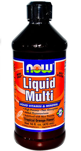 NOW FOODS Liquid Multiwitamina Orange 473ml - suplement diety WYPRZEDAŻ !