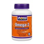 NOW FOODS OMEGA-3 1000mg 100kaps vege - suplement diety