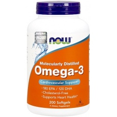 NOW FOODS OMEGA-3 1000mg 200kaps vege EPA DHA - suplement diety