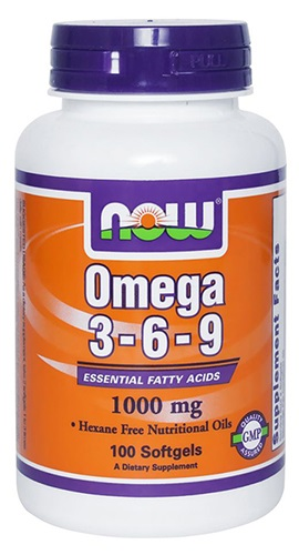 NOW FOODS OMEGA 3-6-9 1000mg 100 veg. kaps. - suplement diety