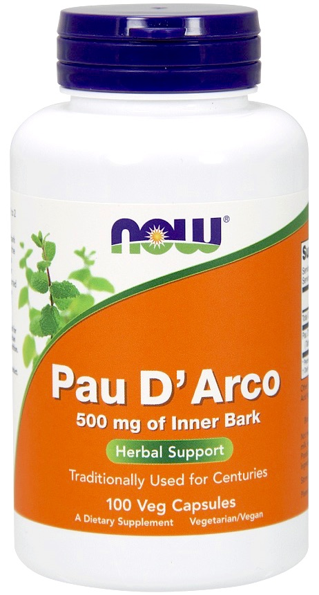 NOW FOODS Pau D\'Arco 500mg 100veg. kaps. - suplement diety