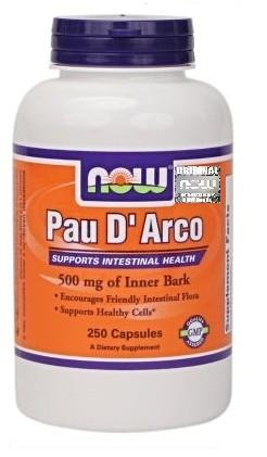NOW FOODS Pau D\'Arco 500mg 250kaps vege - suplement diety