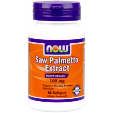 NOW FOODS Saw Palmetto Extract 160mg 60 softgels - suplement diety