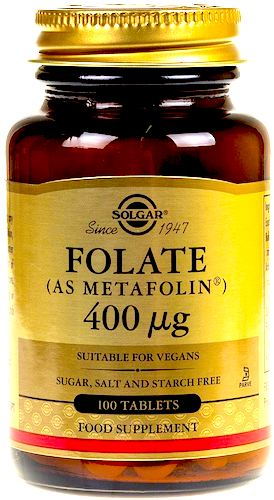 SOLGAR Foliany 400mcg 100tabs vege - suplement diety