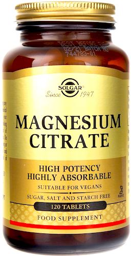 SOLGAR Magnesium Citrate Cytrynian Magnezu 120tabs vege - suplement diety