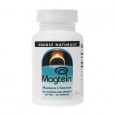 Source Naturals Magtein (L-treonian magnezu) 667mg 45kaps - suplement diety