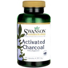 Swanson Aktywny Węgiel Drzewny (Activated Charcoal) 260mg 120kaps - suplement diety