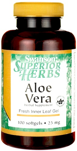 Swanson Aloe Vera 25mg 100kaps softgels - suplement diety