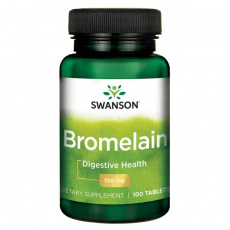Swanson Bromelina 100mg 100tabs - suplement diety