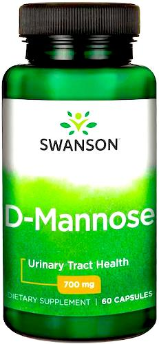 Swanson D-Mannoza 700mg 60kaps  - suplement diety