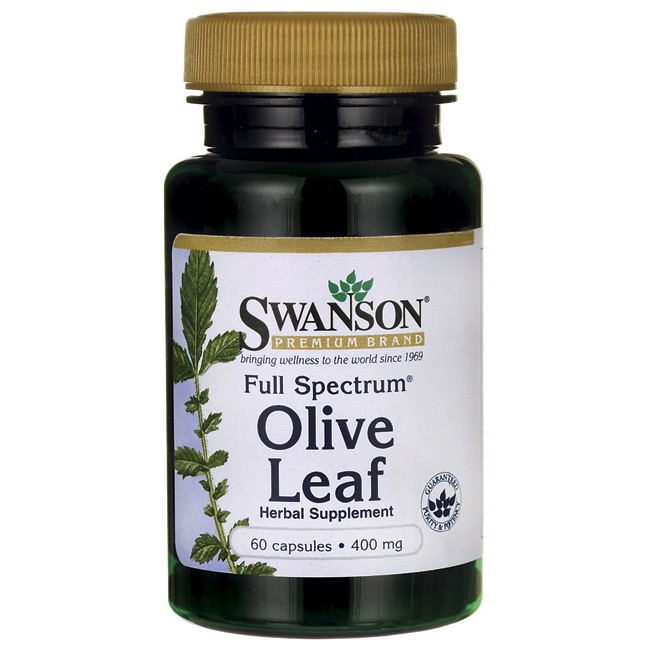 Swanson Full Spectrum Olive Leaf 400mg 60kaps Liść Oliwny - suplement diety