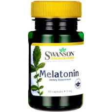 Swanson Melatonina 3mg 60kaps - suplement diety