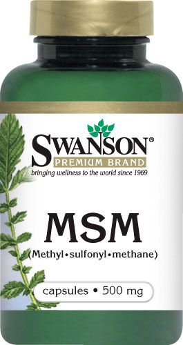 Swanson MSM (Methyl - Sulfonyl - Methane) 500mg 100kaps - suplement diety